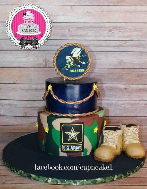 Army Sea Bees Cake