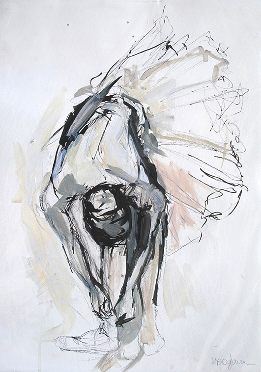 Strength and Grace 15x22 on paper available through Huff Harrington Fine Art