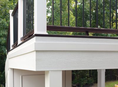 FASCIA The finished edge of your deck in all Trex colors, plus Universal Fascia in White