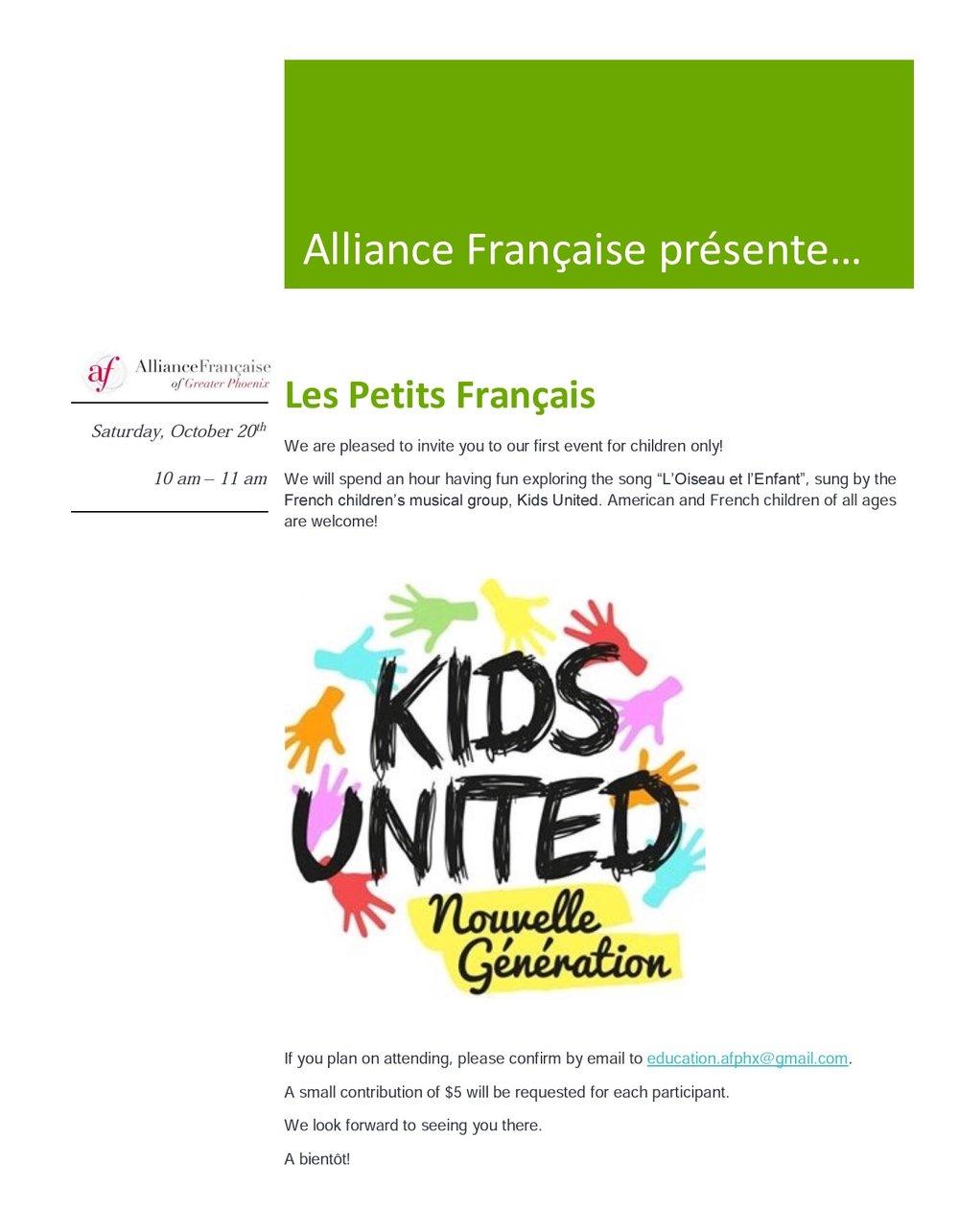 LES PETITS FRANCAIS — Alliance Française b35a93254b3