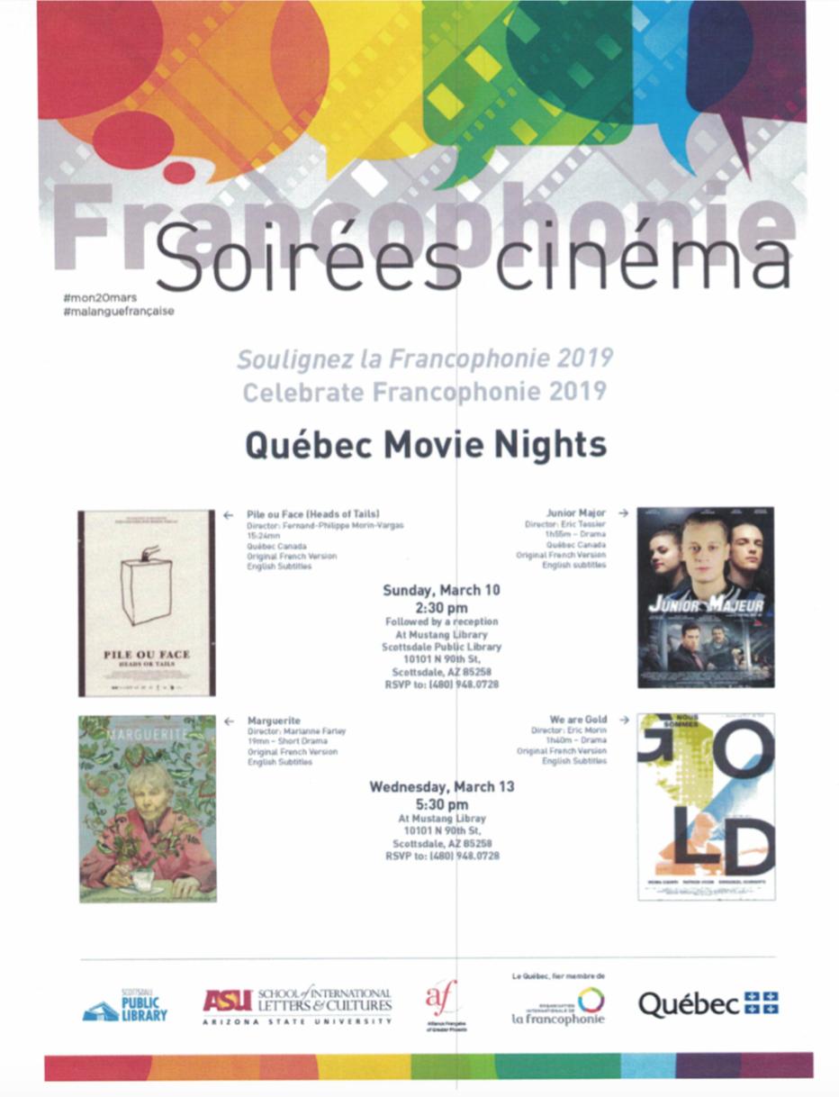 Quebec Movie Night   We are gold — Alliance Française