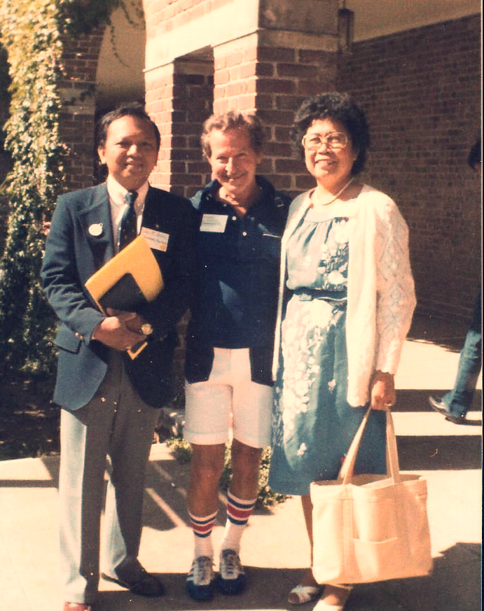 Harold Johnson with Joel Santo and Luz Bacerra
