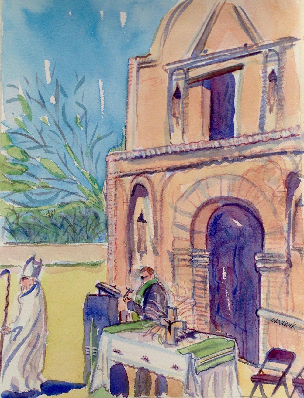 Mass at Tumacácori