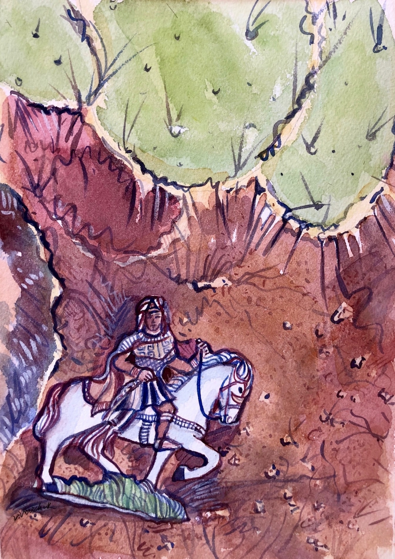Found on the Desert Floor (watercolor)