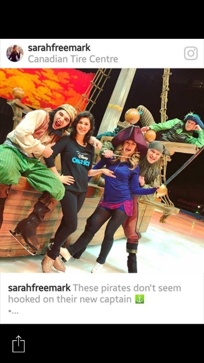 Helene Letourneau with Captain Hook's Pirates
