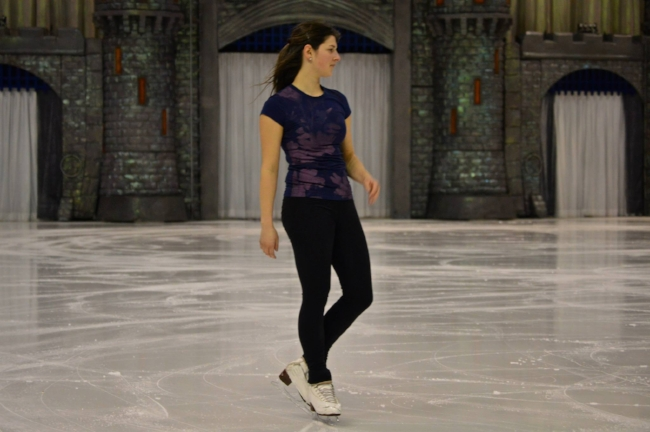 Helene Letourneau auditioning for Disney on Ice November 2013