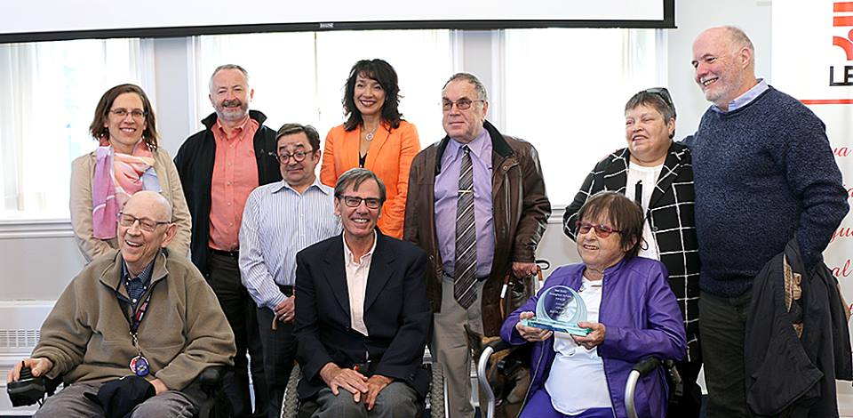 Dr. Linda Campbell (back row, far left) and other members of the Bill 59 Community Alliance