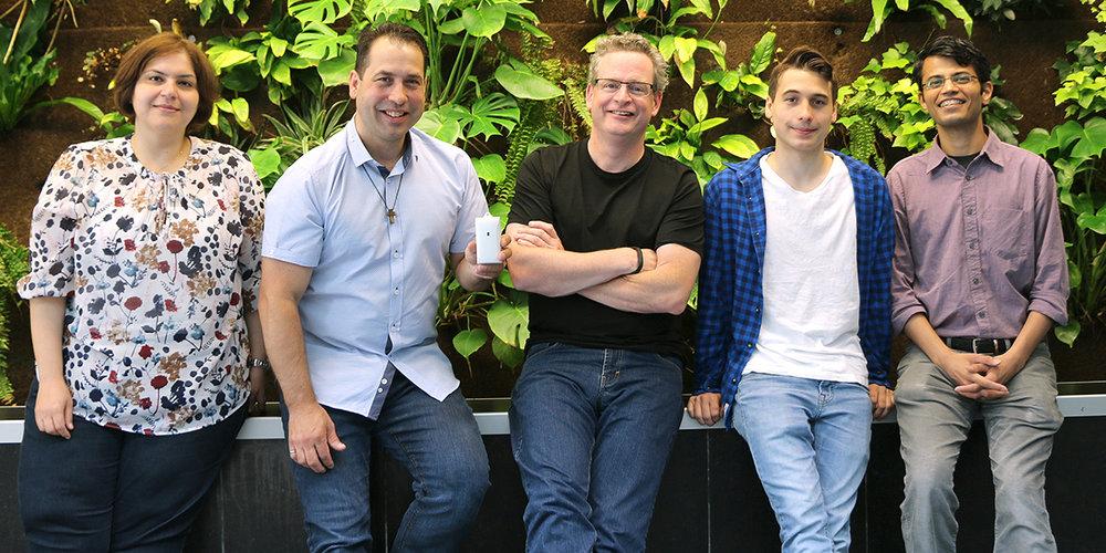 Mahnoush Mohammadi, CTO Matt d'Entremont, CEO John Robertson, Josh d'Entremont, Akhilesh Kotiya