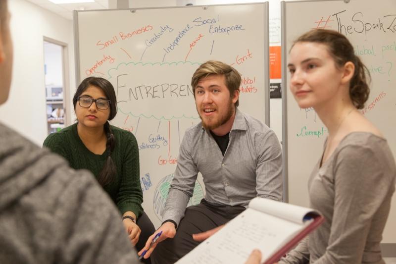 Enactus Saint Mary's University discusses social entrepreneurship projects.