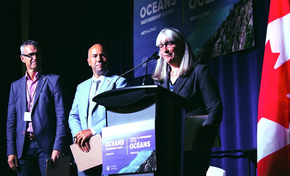 Dr. Danika van Proosdij speaks at the G7 Oceans Summit