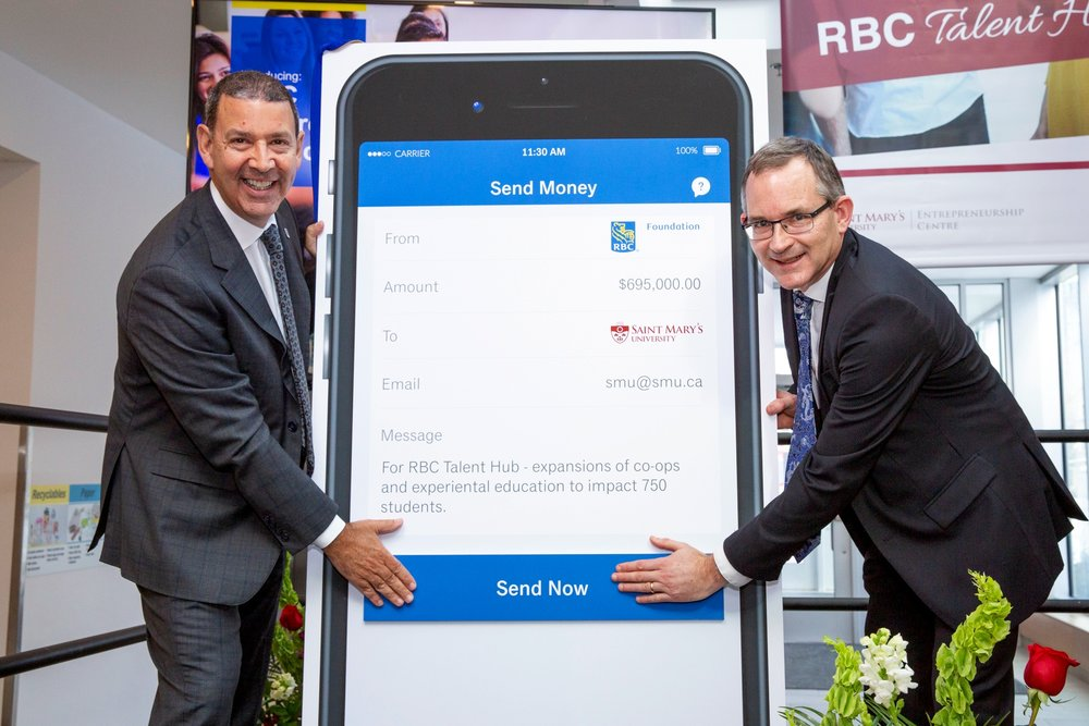 Chris Ronald, RBC Regional President, Atlantic provinces and Saint Mary's University President and Vice-Chancellor Dr. Robert Summerby-Murray