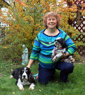 Gayle and Dogs_outside_autumn 2017.jpg