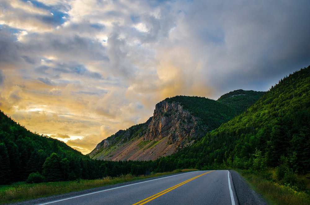 The Cabot Trail in Cape Breton Highlands National Park