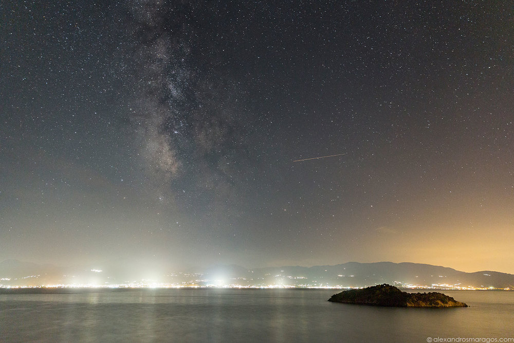 © Alexandros Maragos. Night Photography, The Milky Way over Greece.