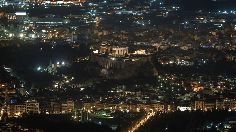 WWF - Earth Hour at the Acropolis of Athens by Alexandros Maragos