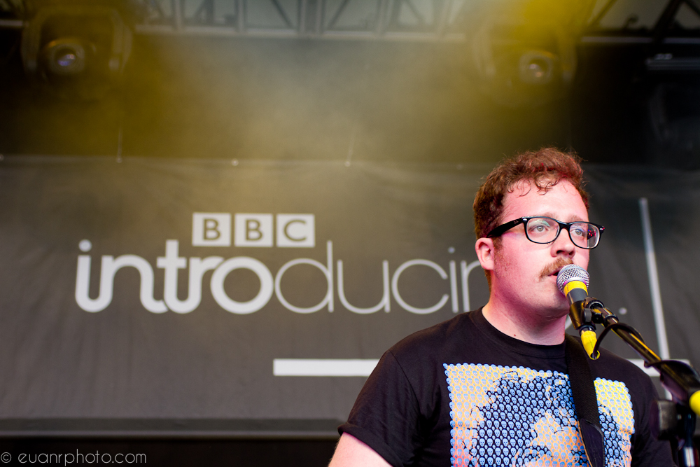 Three Blind Wolves play the BBC introducing stage on Saturday at T in the Park 2011.