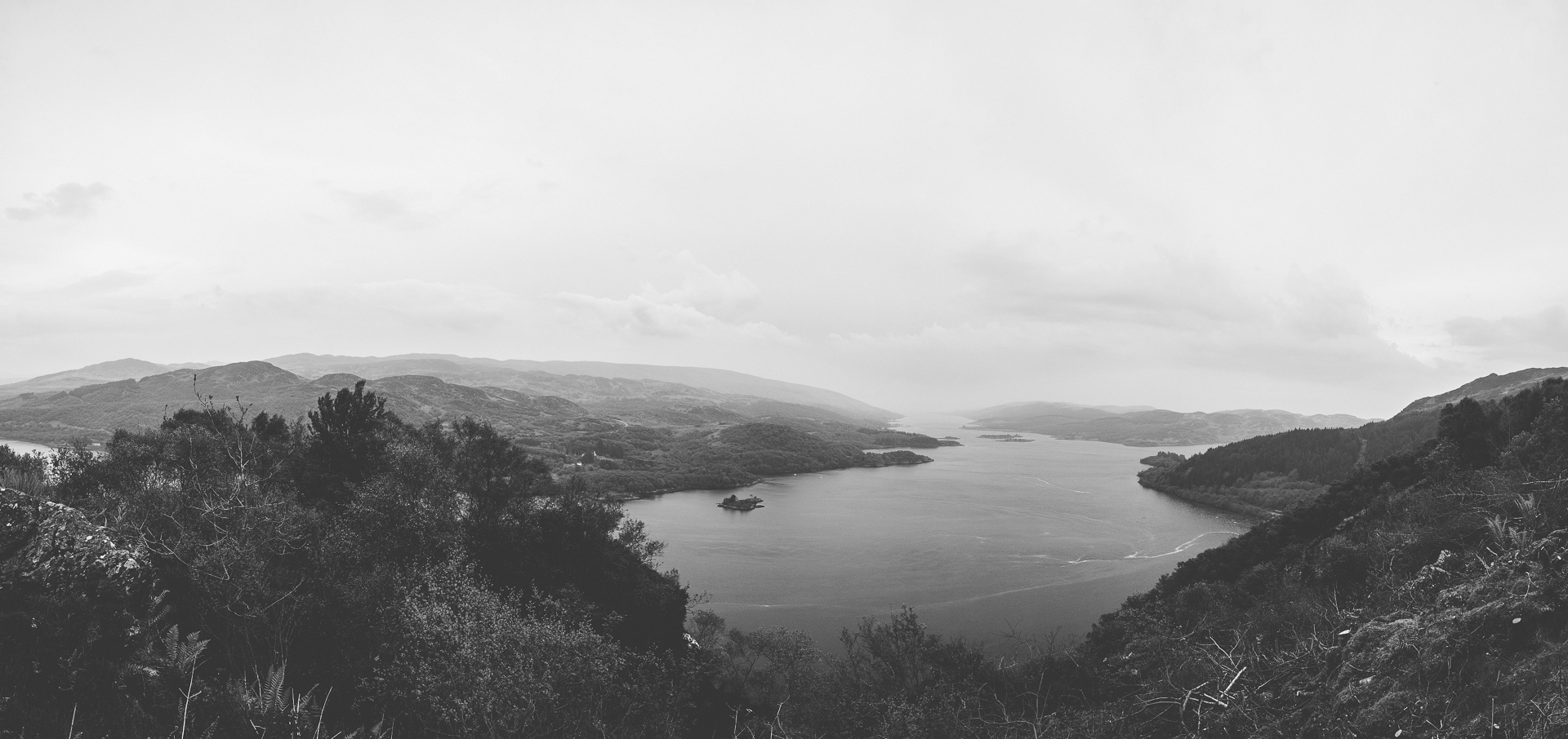 polphail, portavadie, argyll, tarbet, deserted, town, village, sinister, dark, creepy, eerie, photographs, black and white, scenery, landscape, view