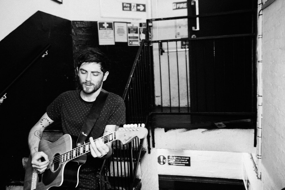 Sam McTrusty of Twin Atlantic, backstage at King Tuts Wah Wah Hut
