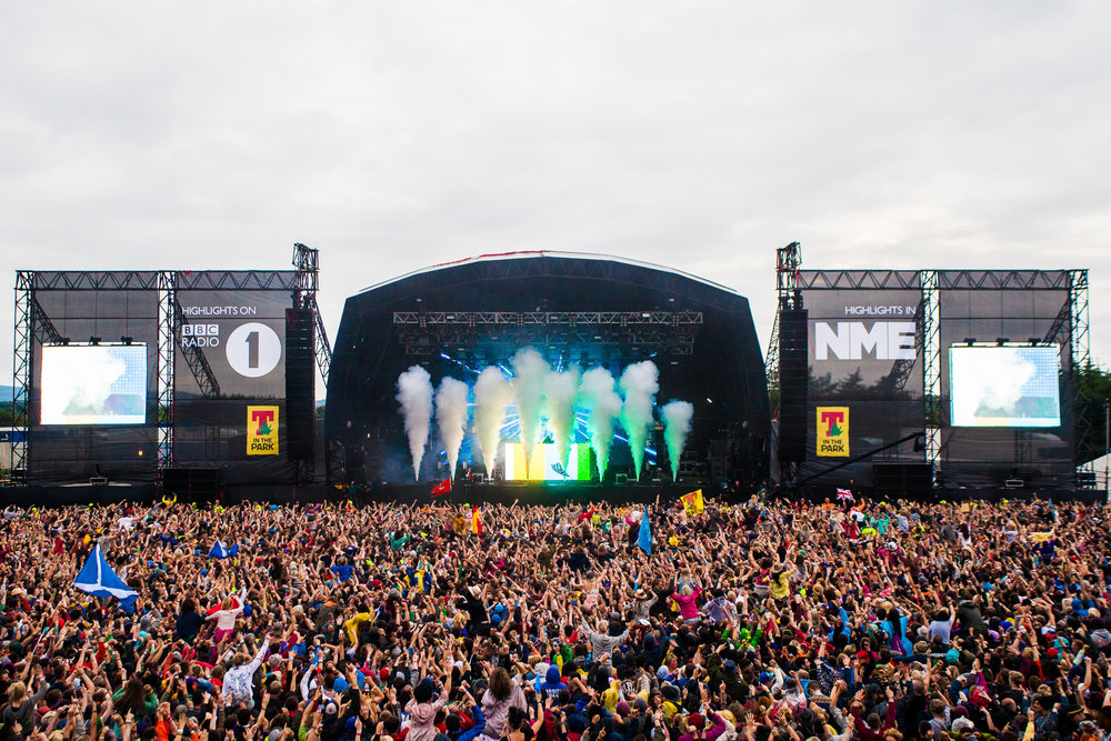 T in the Park, shot for BBC