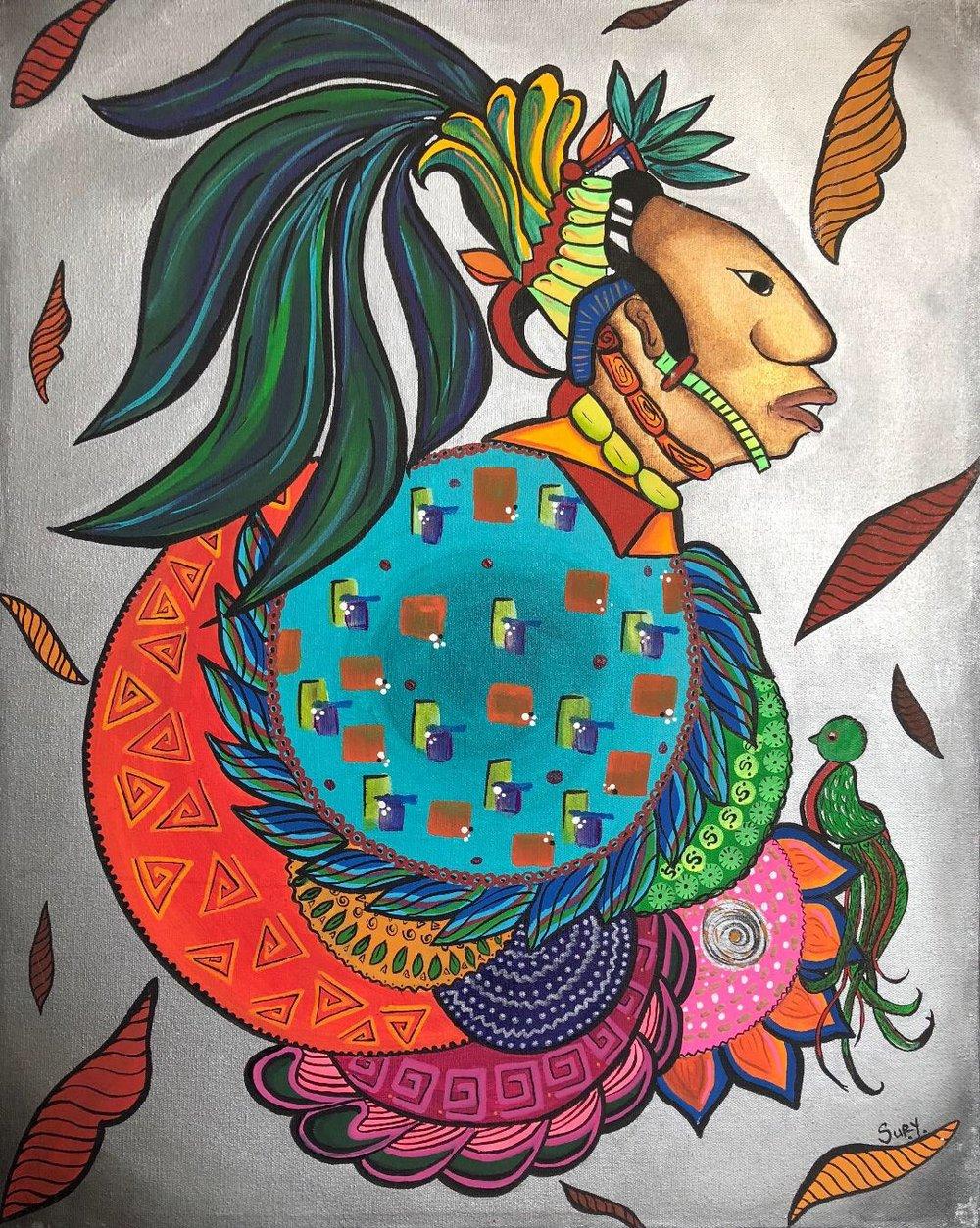 """""""Hombre Maya"""" / Mayan Man  Sury Chavez"""