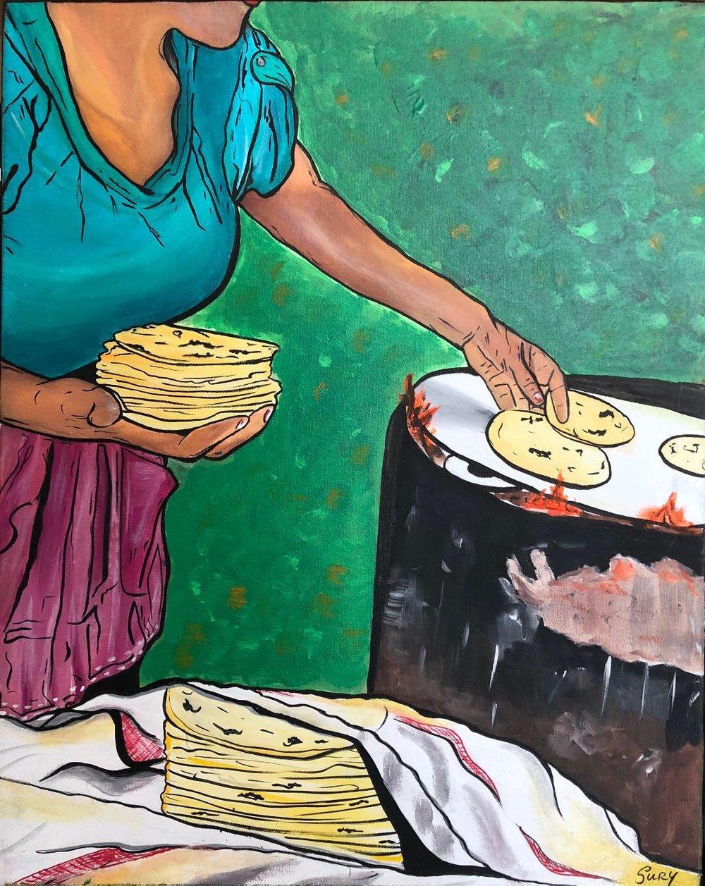 """""""Las Tortillas"""" / The Tortillas  Sury Chavez"""