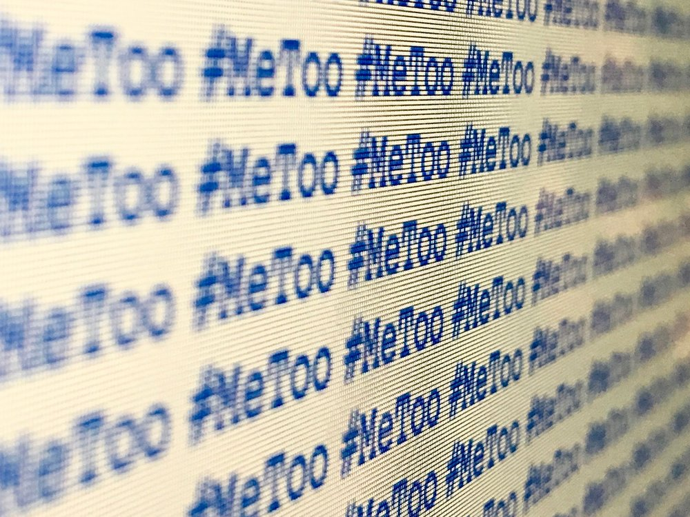 Creative Commons   [Image description: a screen displaying the words #metoo over and over]