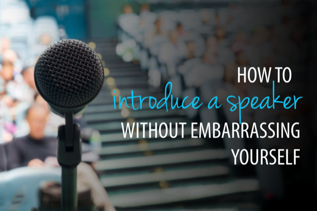how to introduce a speaker