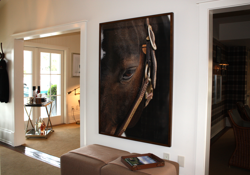 Photographer Shellie Breidenbach has lent her gorgeous horse photos to the Tasting Home at Silver Trident, the equestrian feel and iconic polo ideal is found throughout the home.