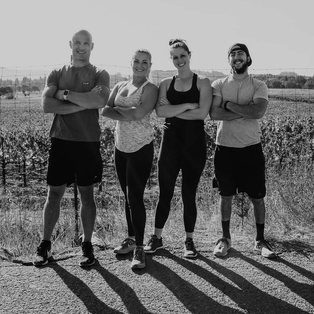 Bare Health Trainers: Matt, Tessa, Maria and Gianni   - Photo by Natalia Nicholas