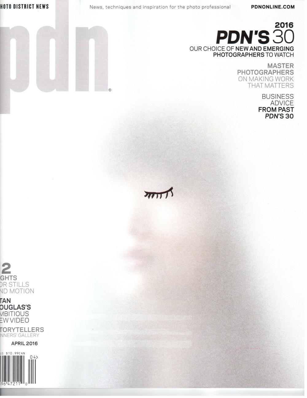 Cover, PDN, April 2016.