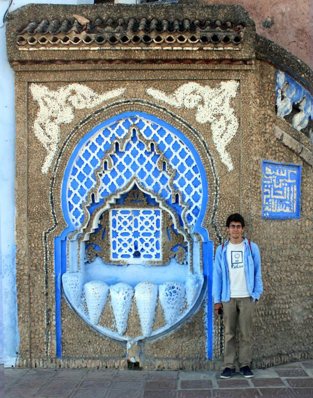 Matt in Chefchaouen Morocco. He wore that outfit for more than two weeks straight.