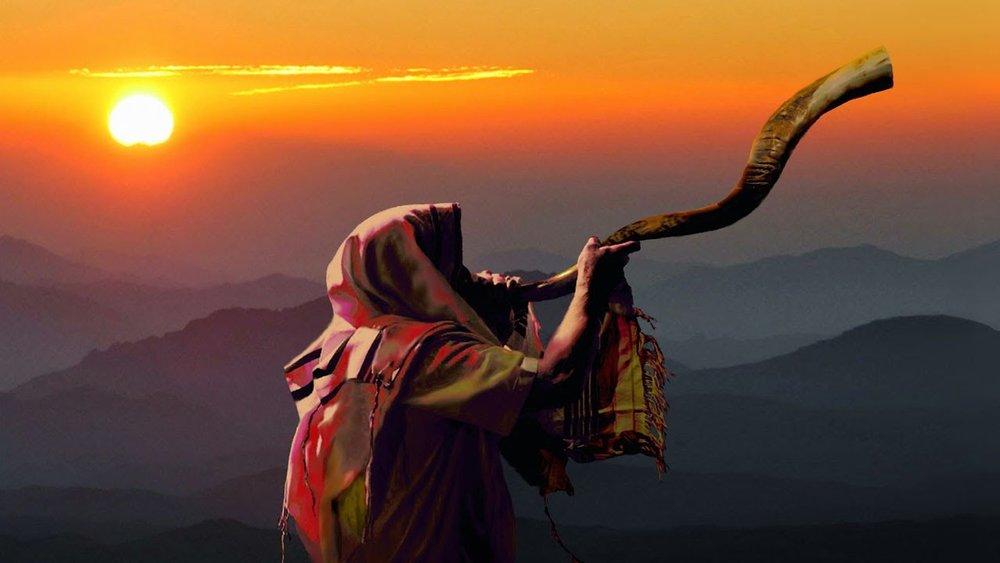 blowing shofar sunset.jpg