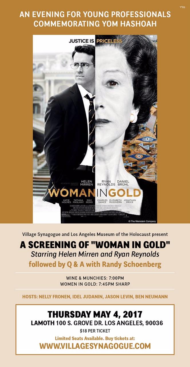 Women In Gold Flyer