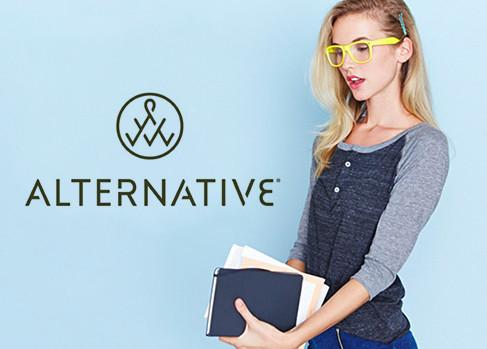 Alternative Apparel - Alternative Apparel produces men's and women's apparel basics in soft eco-fabrics, organic and pima cotton, keeping a sustainable future in mind.
