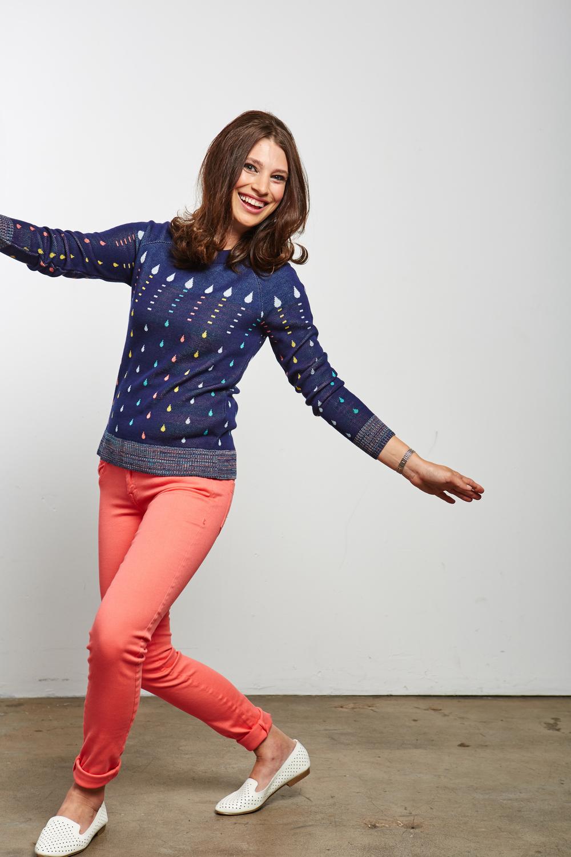 Candledrip Raglan Pullover Hanukkah Sweater