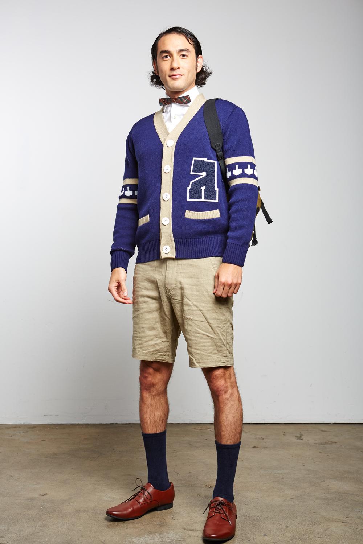 Mens Gimmelman Letterman Varsity Hanukkah Sweater