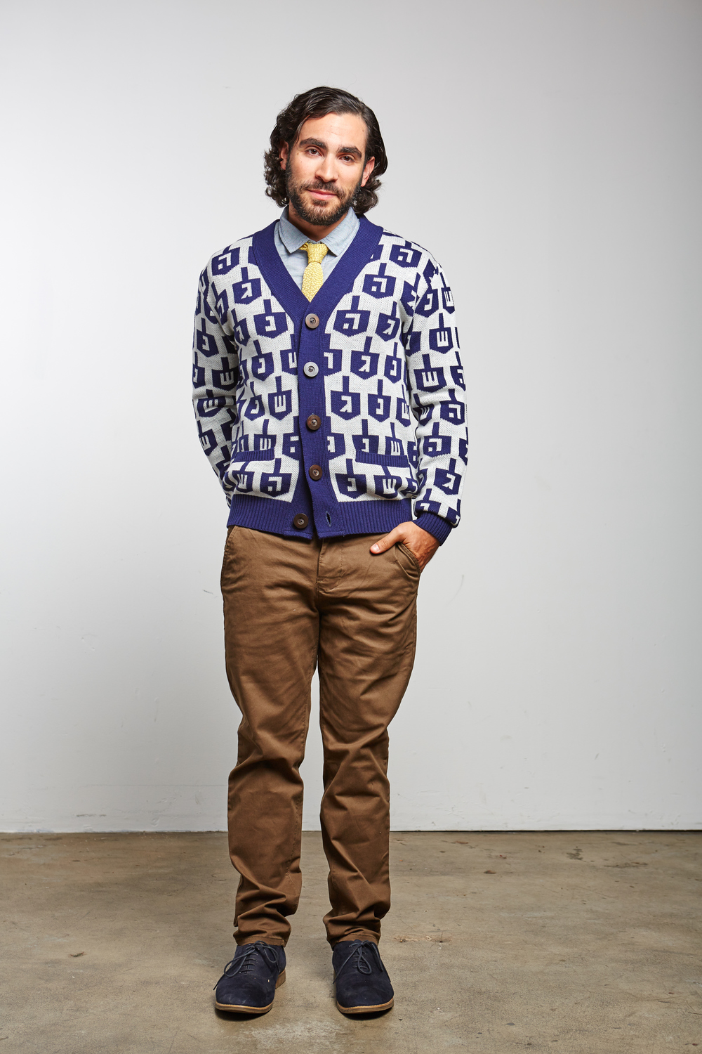 Spinmaster Cardigan Hanukkah Sweater