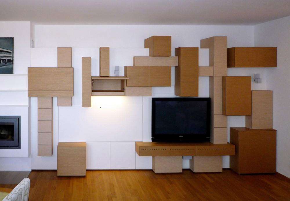 Der Wunsch Nach Einem Skulpturalen Wohnzimmerverbau