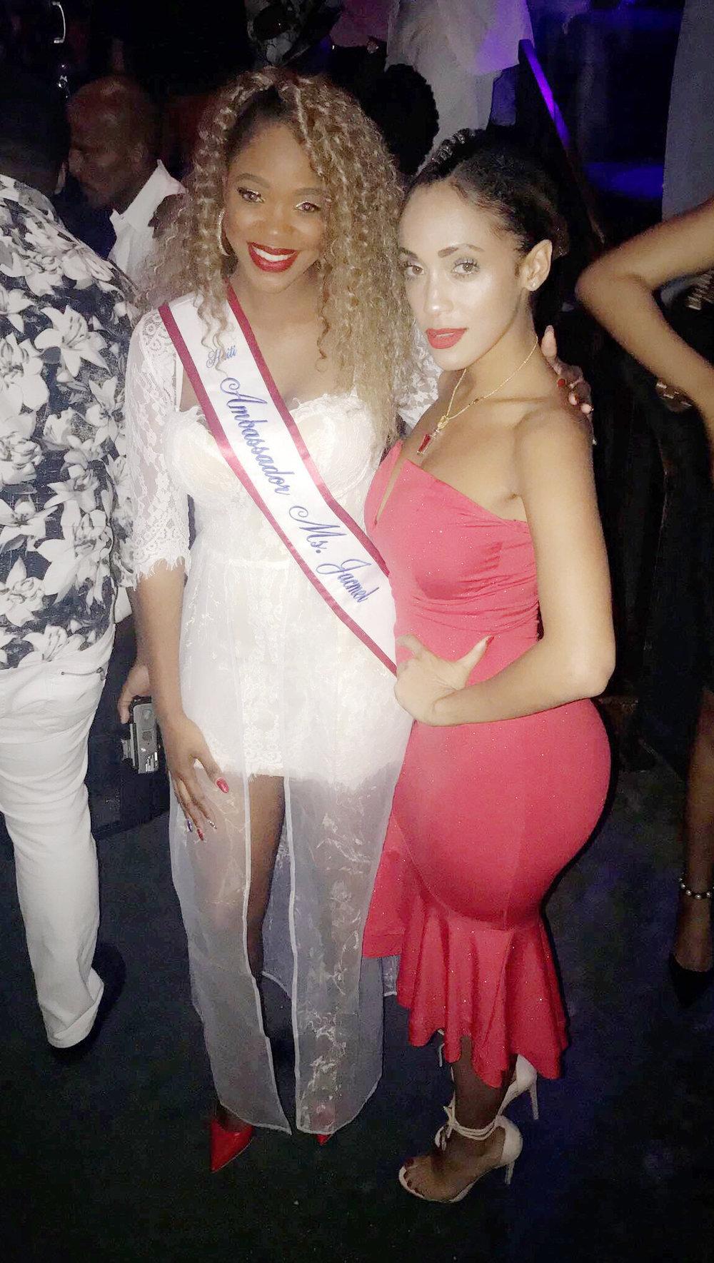 Sandra Love, Ms. Jacmel Haiti with famous Haitian Artist Phyllisia Ross