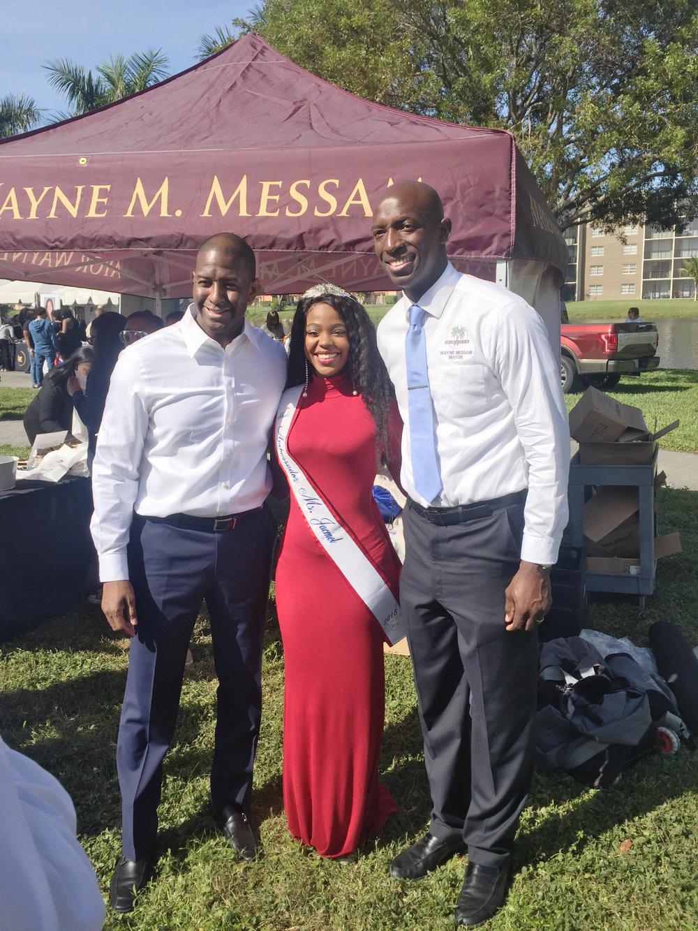 Ms. Jacmel with the Mayor of Miramar, Florida