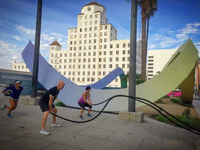 What else did you expect, #LongBeach? #DTLB' @groundworkfitness hits #TheLoopDYLB every Saturday at 8:30am. It's Monday so you have plenty of time to clear your schedule.