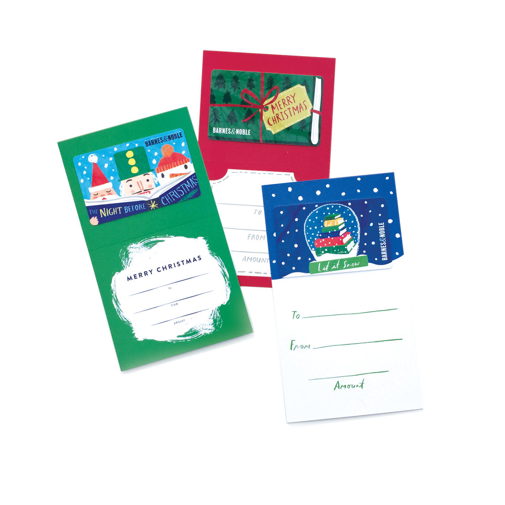 barnes and noble 2017 holiday giftcard set created with little
