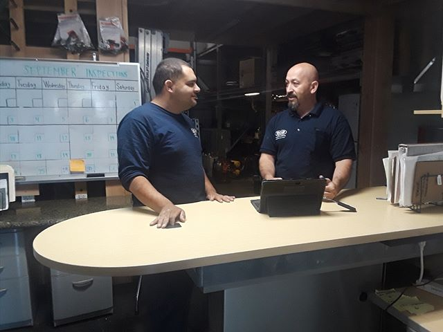 Good Morning on this sunny morning!  R & B Family going over job projects of the day.  Want to prepare your system for Fall? Give us a call!  408-977-1401