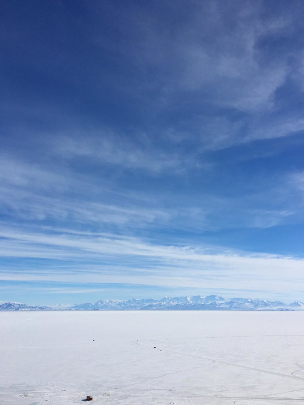 looking out from McMurdo across the sea ice to the Transantarctic Mountains, Nov 2016