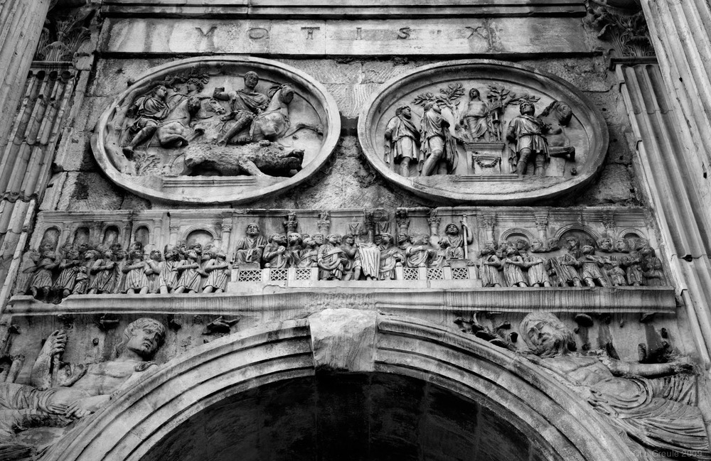 The Arch of Constantine, Rome, Italy.