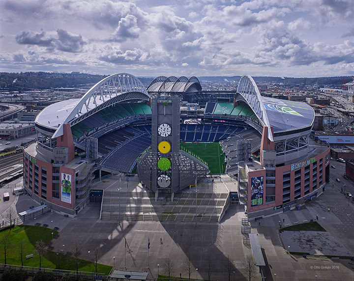 CenturyLink Field, 2016. Built on the same site as its predecessor, opened 2002.