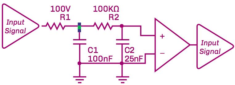Figure 6: Schematic of 31 Hz Low Pass Filter