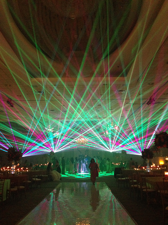 Laser Light Show for Wedding Reception Entrance