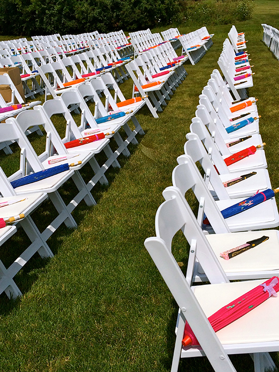 Outdoor Ceremony Seating Set-up