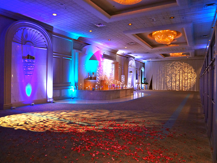 Front Lobby Lighting and Gobo Decorations